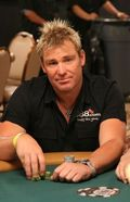 Shane Warne at Ante Up For Africa