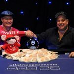 Wessel Jacobs, winner and Joe Rahme , second - All Africa Poker Tournament - August 2009